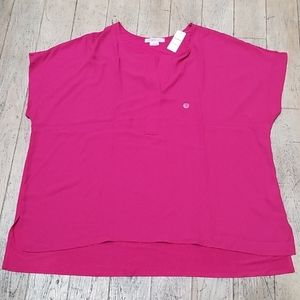 NWT In Every Story Fuchsia Top Plus Size 3X